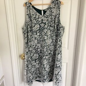 Green and white lace mesh dress from ModCloth